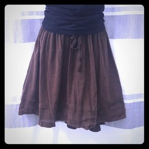 Brown Drawstring Old Navy Skirt